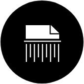 destroy data, shred paper